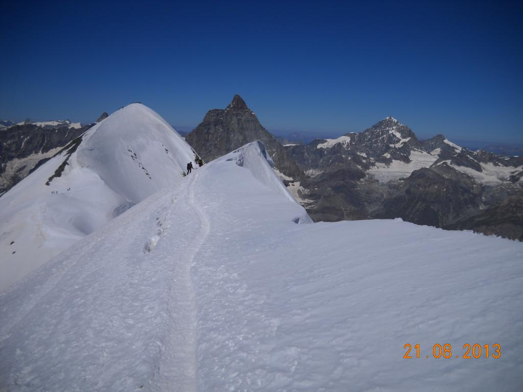 panorama dal Breithorn centrale 4160mt.