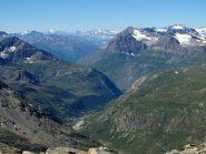 Panorama verso la Francia (con Barre des Ecrins in fondo)