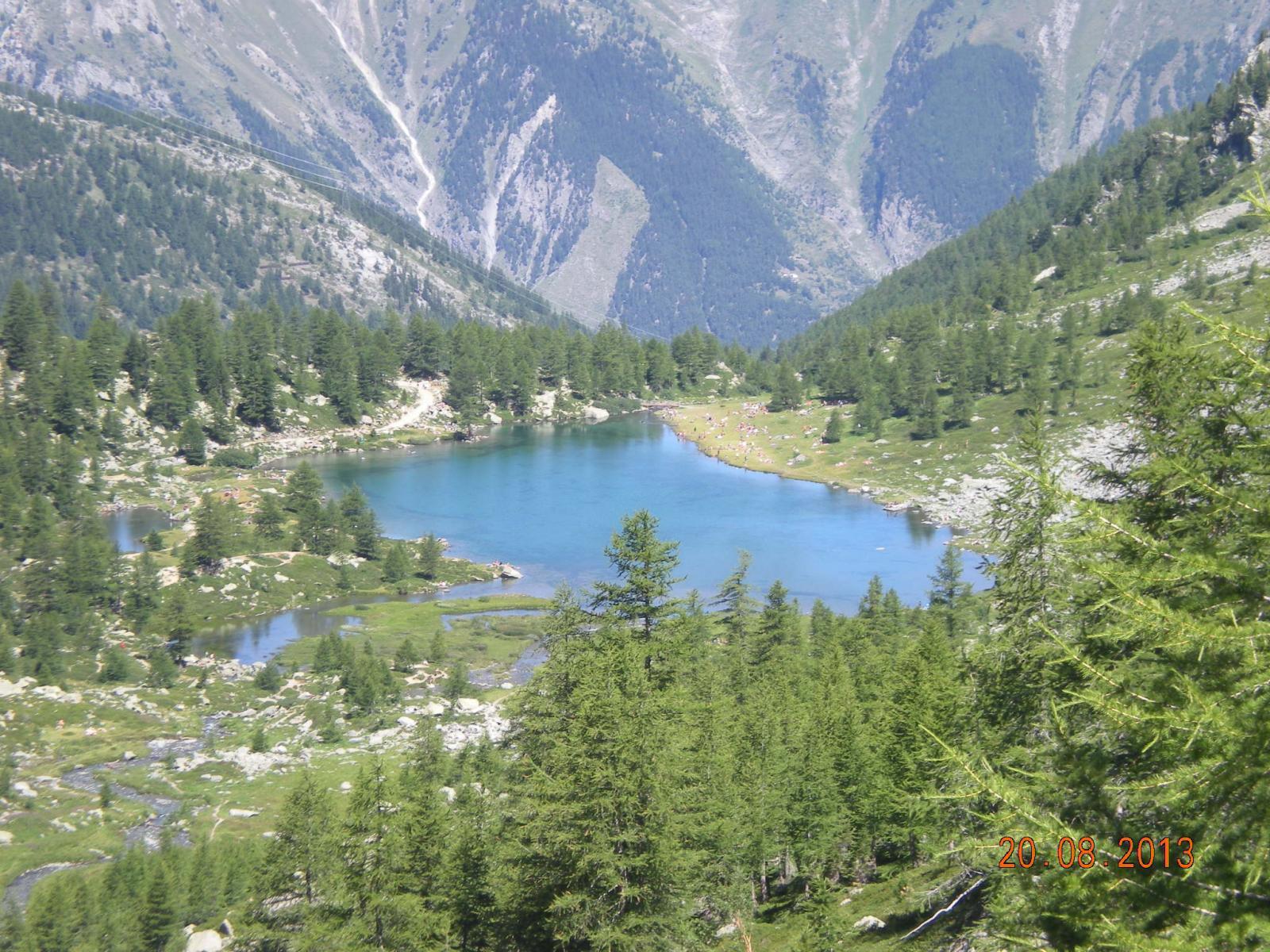 Lago D'Arpy visto da monte
