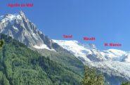 il nostro percorso visto da Chamonix