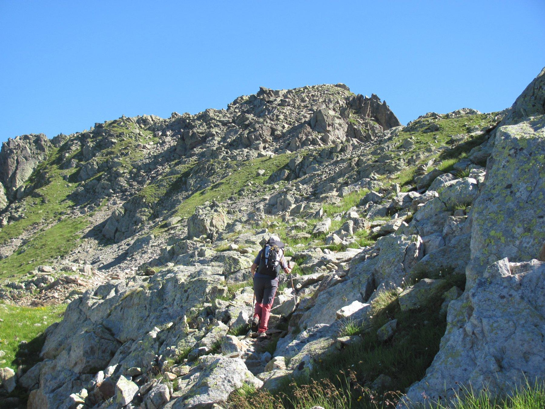 l'ultimo tratto di salita verso la cima