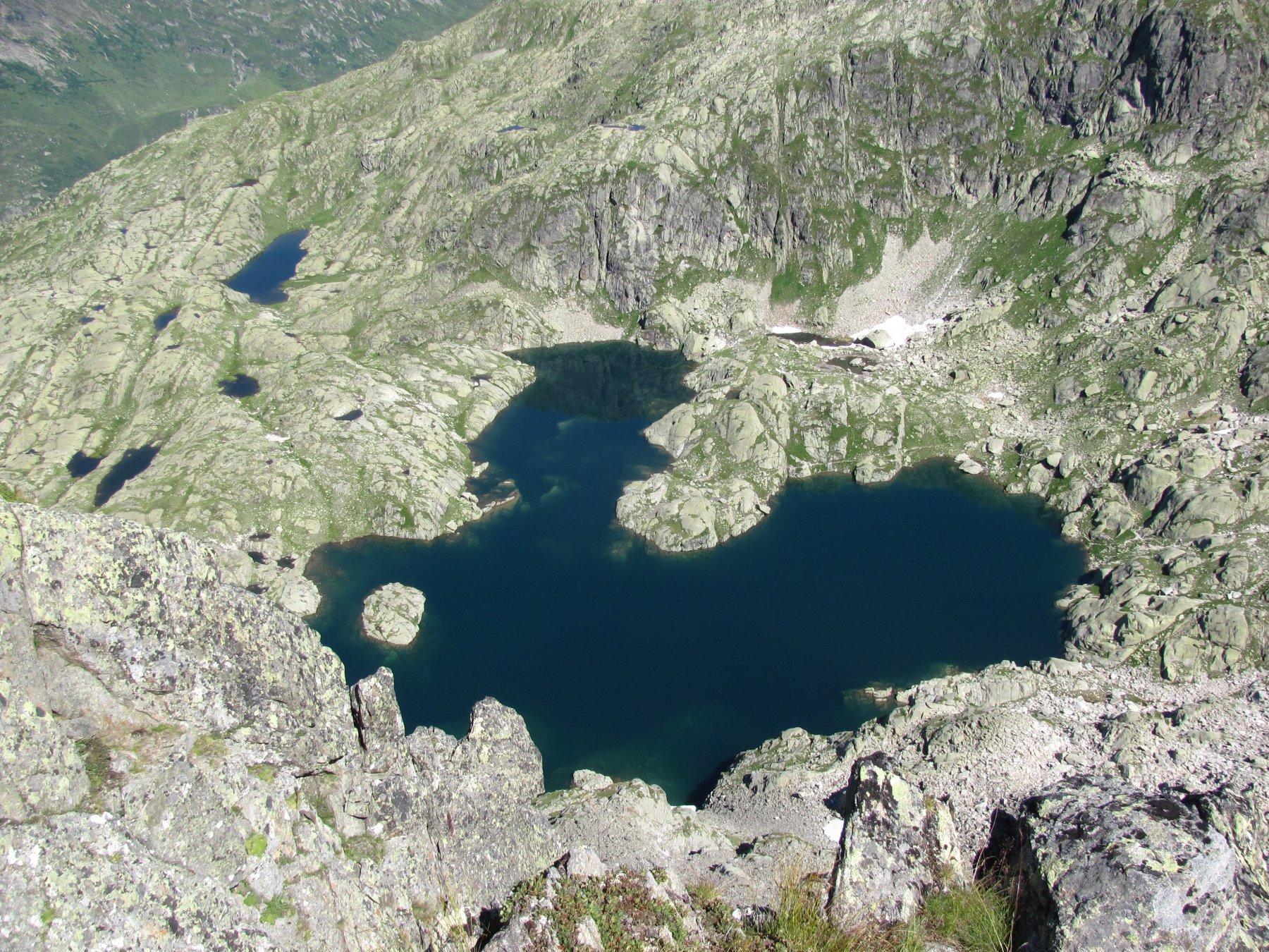 il Lac Cornu, visto dalla vetta
