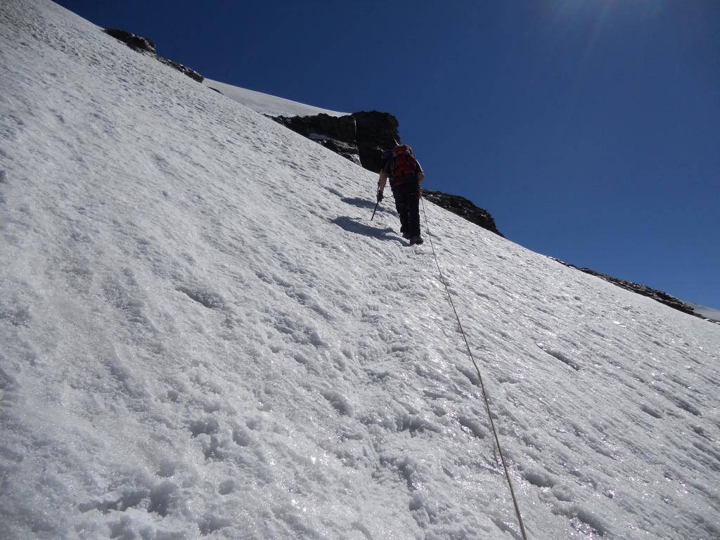Pendi di salita allla Roccia Nera (45°)