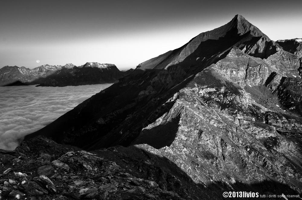 Rocciamelone Cresta Est dal Monte Palon per i Muret, Brillet e Rocce Rosse 2013-08-21