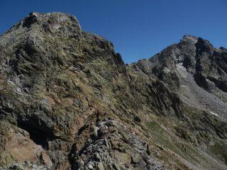 vista su Rocca Pan Perdu e Rocca Paur dalla prima Quota del contrafforte Ovest della R.Pan Perdu
