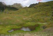 Il laghetto quota 2610 m sulla via per il ritorno