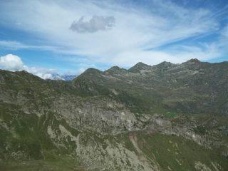 Da SX: Bocchetta di Rimella(o Campello), Punta del Pizzo, quota 2277, Passo delle Vacche, Altemberg,Cima Lago, Capezzone