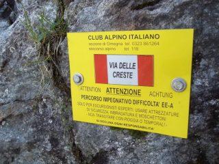 Il cartello segnale per accedere al Passo della Magna