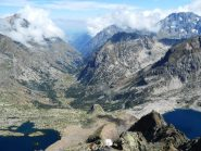 Dalla cima i laghi del Claus e Portette