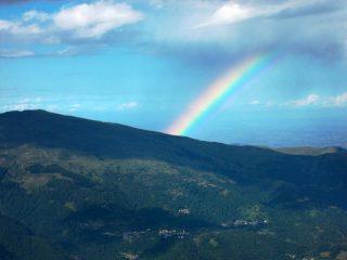 arcobaleno sulla cresta di Garitta nuova