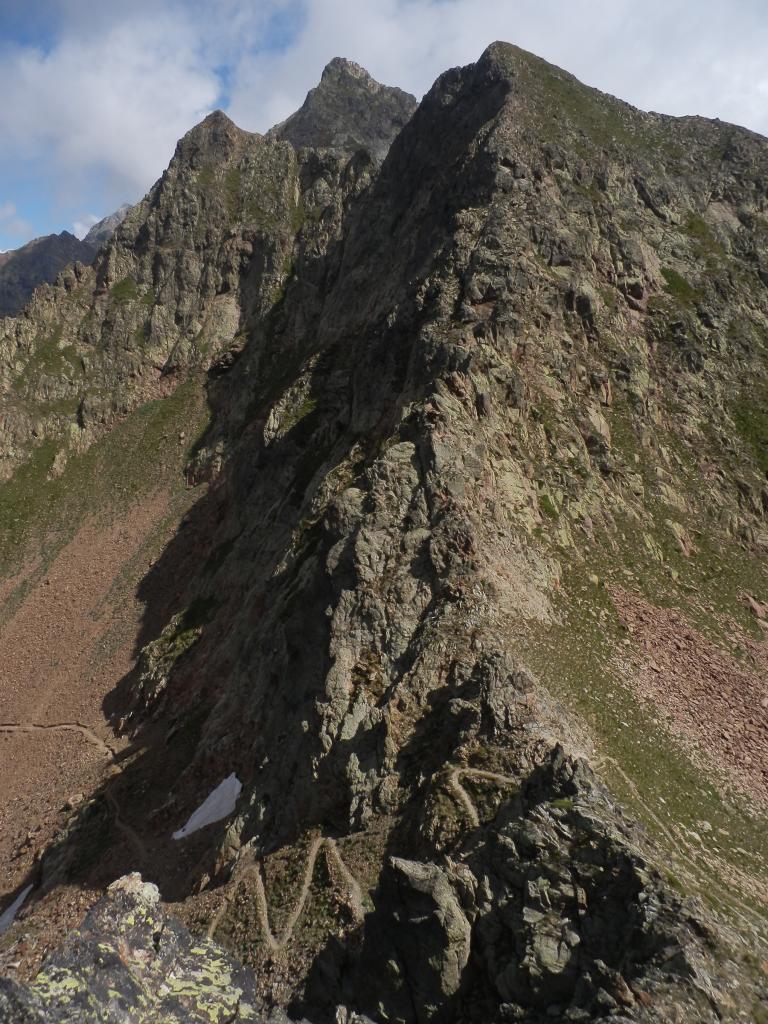 dalla vetta del Funs, vista sulla Q.2567 della Cima di Valscura salita dopo