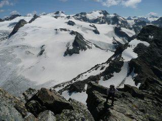 Roberto sulle ultime rocce della cresta