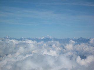 dalla vetta i giganti della valle d'Aosta