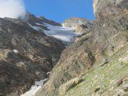 Mont Rous e ghiacciaio di Vofrède dalla ferrata
