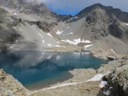 Gran Lac, in fondo colle Vofrède e a dx Mont Rous