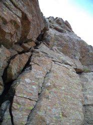 bei passaggini su roccia sana nella parte mediana