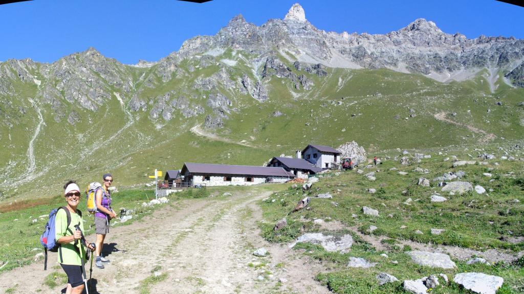 l'arrivo all'alpe Champanement...