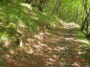 Vecchia pietra migliare e percorso iniziale