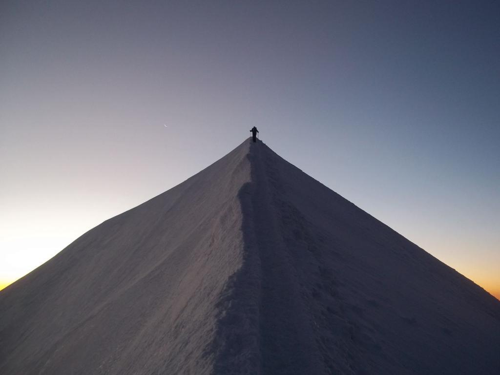 verso la cima del Bianco
