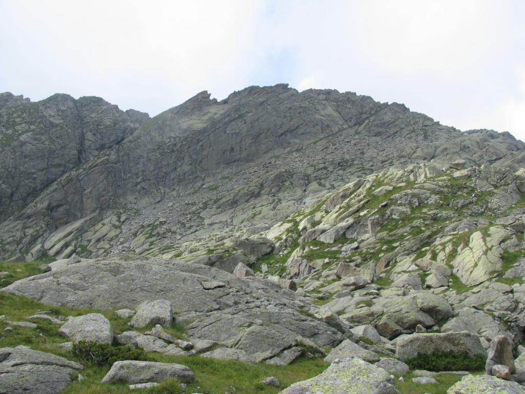 Parte alta del profilo di Cresta Testona