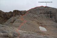 dalla quota 2950 m. ultimo tratto della via di salita per la cima (8-9-2013)