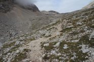 il sentiero che conduce verso il Lago delle Conturines (8-9-2013)