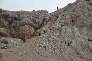ultimo canalino roccioso che porta sulla cresta terminale (8-9-2013)