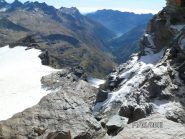 Il ghiacciaio della Basei e il fondovalle verso Ceresole