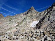 Il percorso e l'elegante cima del Gelas