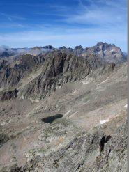 Uno sguardo verso Finestra, Argentera e gruppo, Lago Bianco