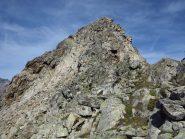 Il Caire Cabret l'ultimo tratto alpinistico, si passa a sinistra della cresta