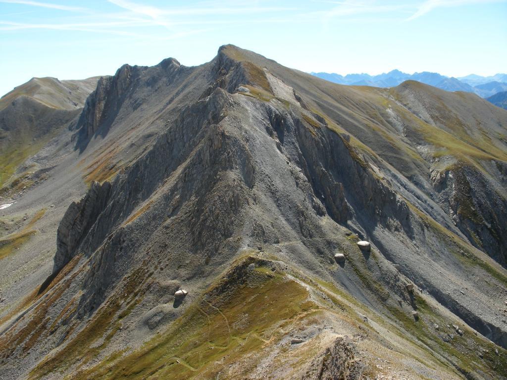 la cresta di salita del M.Giordano