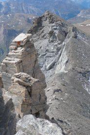 Cresta dalla cima verso il Segnal du Lamet