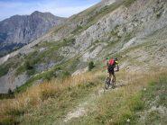 sentiero in direzione del colle Cialdoletta