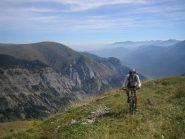 la salita alla cima Varirosa-breve tratto ciclabile;