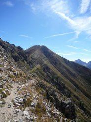 sentiero di discesa dalla cima