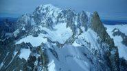 Cresta di Rochefort, Dente del Gigante e Monte Bianco dalla vetta