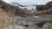 Fronte del ghiacciaio purtroppo ormai separata e non piu' alimentata