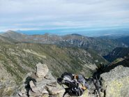 vista su Val Corsaglia dalla Ruscarina