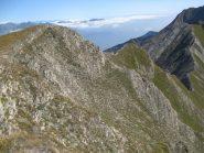 Il sentiero visto dalla punta