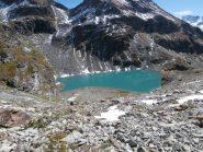 il lago dal colletto dell'altopiano....