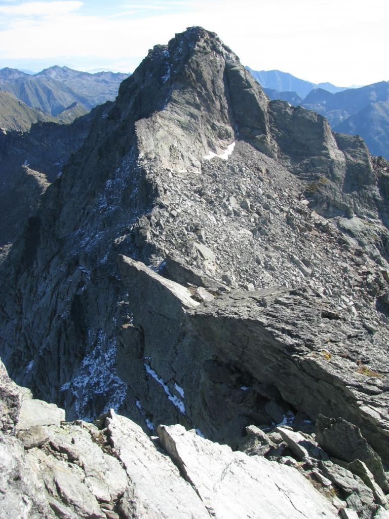 La cresta verso la Becca di Vlù