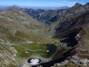 Lago della Vacca e vallone del Sabbione verso Trinità
