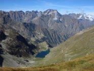 Panorama dal Colle del Vei del Bouc su Argentera e c. e Lago del Vei del Bouc