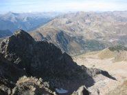 la cresta  di salita vista dalla Cima Orientale