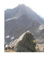 La p.Tressi dalla cresta sud del M.Cavallo..a sx in basso la Bocchetta di Vallotta..