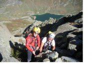 Umberto e Davide in una pausa durante la cavalcata di cresta..