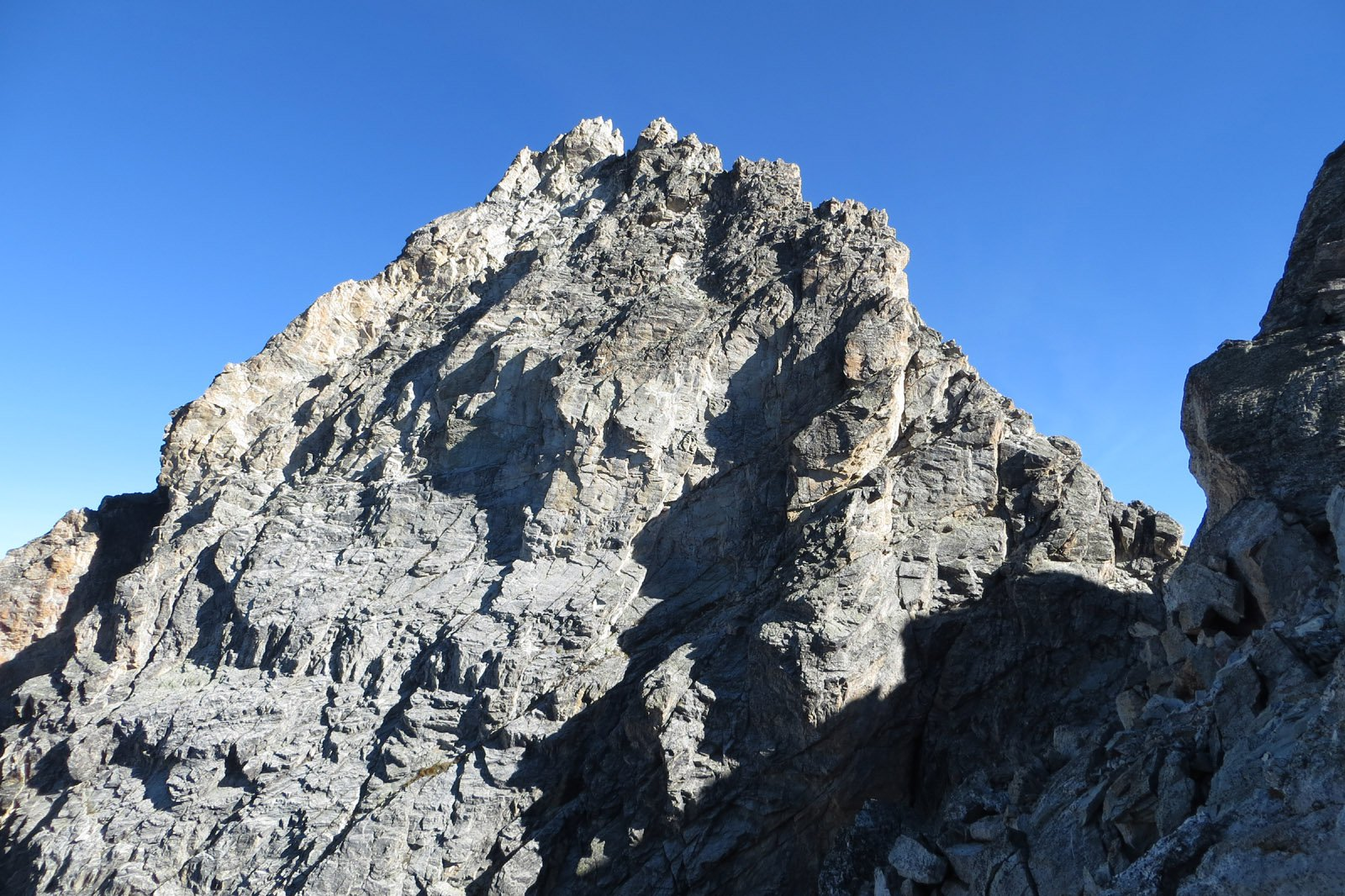 la cresta finale vista dalla forcella