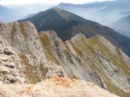 La cresta percorsa vista dalla vetta