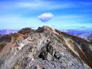 La sfasciata cresta in direzione del Monte Braulio